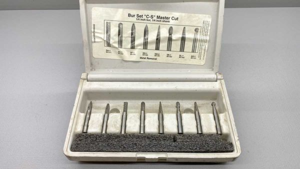 "Master Cut 7 Piece 1/4"" Bur Set with 1/4"" shank unused in the box"