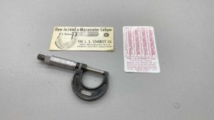 "Starrett No 436-1"" Micrometer owners marks"