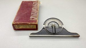 "Starrett No 492 Protractor Head 3/32"" IOB"