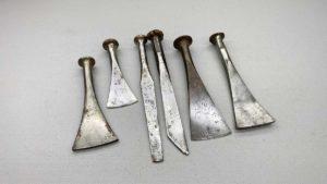 Vintage Caulking Irons Various Sizes