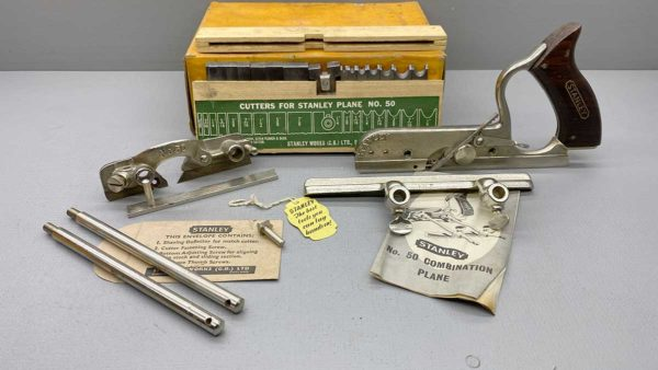 Stanley No 50 Combination Plane which is in Top Condition, all 17 cutters and IOB