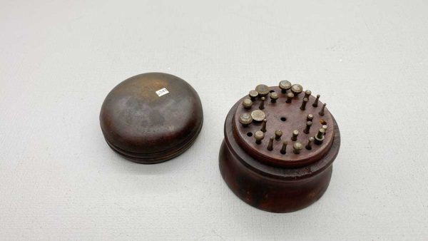 Vintage Jewellers Burr Set in wood box, has a check in cap of box, 26 burrs