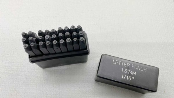 "Letter Stamp Set 1/16"" or 1.5mm 28 Piece In New Condition"