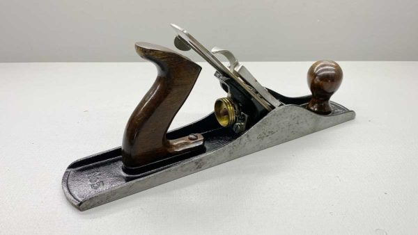 Stanley No 5 Bench Plane Made In Australia Good Condition Great Tote and Knob IOB but box tatty