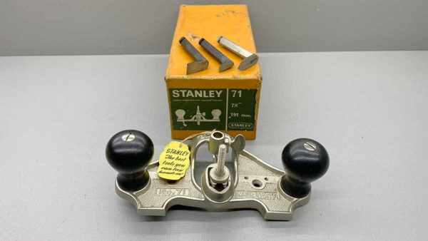 Stanley No 71 Router Plane With 3 Cutters In Top Condition IOB
