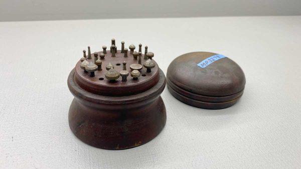 Vintage Jewellers Burr Set in wood box
