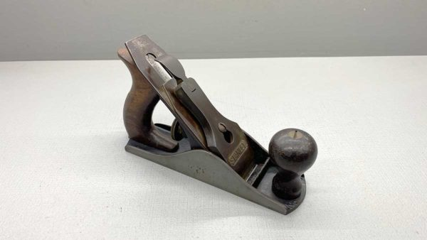 Stanley USA No 2 Bench Plane Uncleaned In Good Condition But Has Short Check On Side Of Base See Photo
