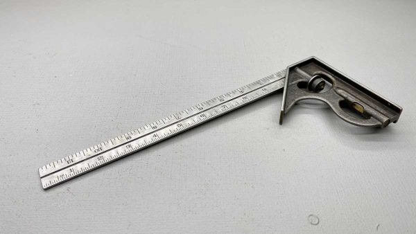 """Lufkin USA 12"""" Adjustable Square Early Style With level and Vial Is Good"""