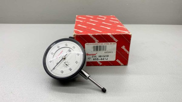 "Starrett No 655-441J Dial Test Indicator .001"" - 1.000"" Range In Good Condition"