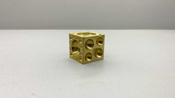 "Jewellers Solid Brass Dapping Block measures - 1 1/2"" x 1 1/2"" NOS"