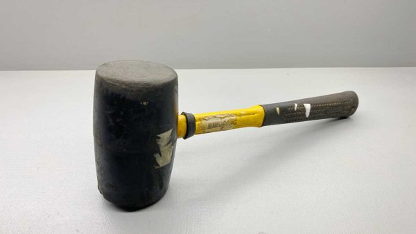 """Large Rubber Mallet 125mm x 70mm Dia In Good Condition overall length of 14"""""""
