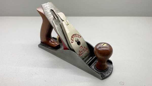 """Falcon Pope 9"""" Bench Plane Good Tote & Knob Great logo on a Good Length cutter"""
