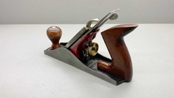 """Falcon Pope 6"""" Bench Plane Good Tote & Knob Great logo on a Good Length cutter"""