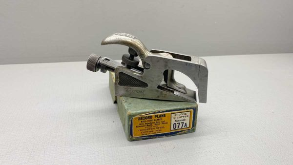 """Record No 077A Rebate Plane In Original Box In Good Condition 4"""" Long with 1 1/8"""" Cutter"""