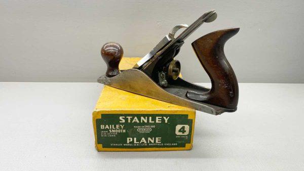 Stanley No 4 Bench Plane Good Tote & Knob In Original Box A Nice Example