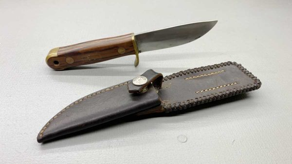 """Hand Made Bowie Knife 8"""" Long With Sheoak Handle And leather Sheath Well weighted"""