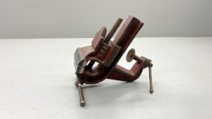 """Clamp On Bench Vice From L H & F Co With 1 3/4"""" Jaws and Anvil at the rear"""