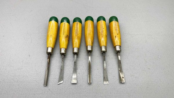 Millers Falls Set Of Six Carving Chisels In good condition