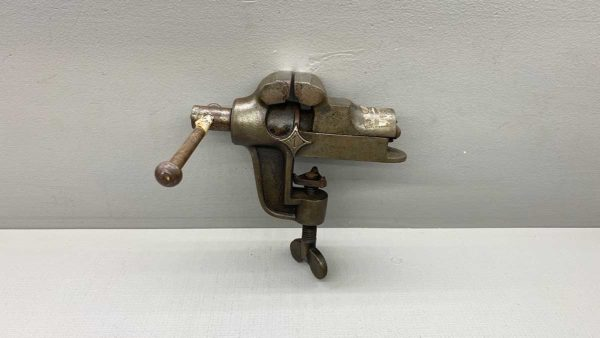 "Antique Clamp On Vice Pre 1900 With 2"" wide Jaws"