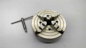 """South Bend 4-Jaw Independent Chuck 6"""" Capacity Fitted for 9"""" lathe"""