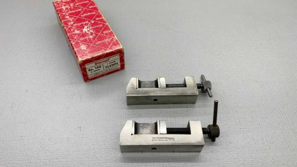 Starrett No 160 Clamp Set Of Two IOB In Top Condition