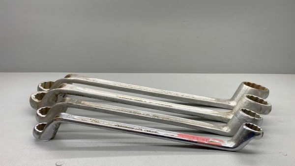 """Stahlwille Large Ring Whitworth Spanner Set of four 7/8 - 1"""" 13/16 - 11/16"""" 9/16 - 5/8"""" and 7/16 - 3/8"""""""