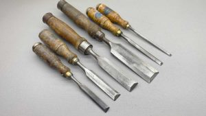 Erik Anton Berg Bevel Edge Chisel Set Of 6