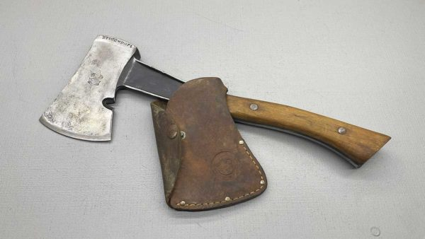 Bridgeport USA Boy Scout Hatchet with leather cover