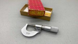 """Starrett No 216xp Carbide Tip Micrometer 0 -1"""" IOBIn good Condition"""