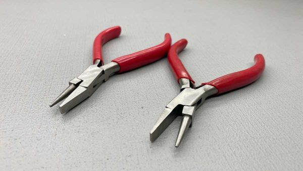 Round & Flat Face Spring Loaded Pliers New Condition