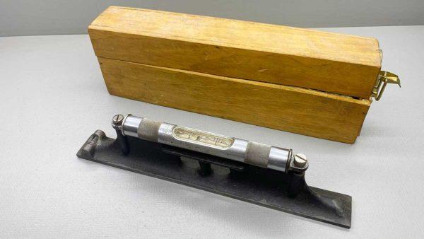 "Starrett No 98 12"" Engineers Level In Wood Box"