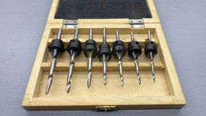 "Countersink Drill Bits Set Of Seven IOB In Good Condition 7/32"" > 1/8"""
