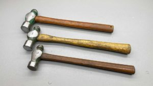 Three Ball Peen Hammers With Good Handles