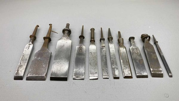 Carving Chisels Set Of Eleven No Handles