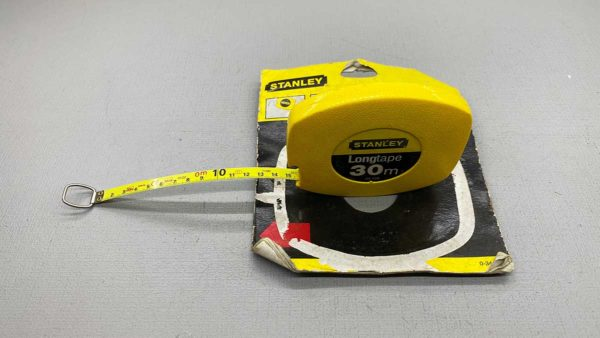 Stanley 30M Long Tape New Old Stock Wind back Tape .0-34-108