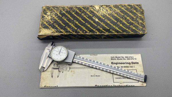Brown & Sharpe USA No 599-579-3 Dial Vernier