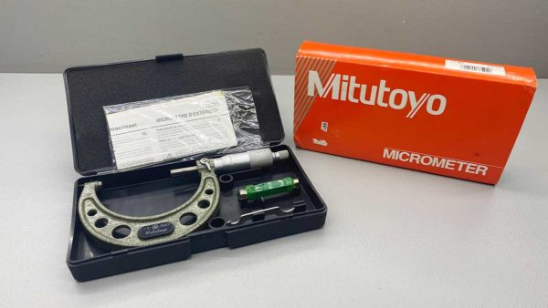 "Mitutoyo Japan No 103-217 Micrometer covers sizes 2-3"" and comes IOB"