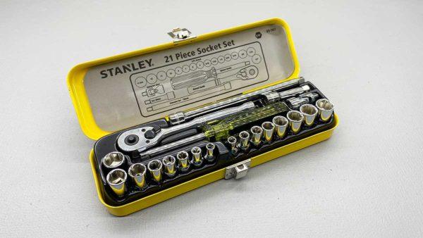 """Stanley No 90-507 1/4"""" Drive 21 Pc Socket Set"""