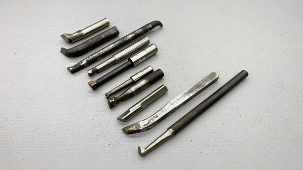 Various Lathe Tooling With Assorted Sizings 10 Pieces