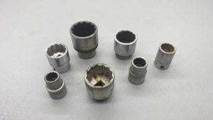 """Seven 1/2"""" Drive Sidchrome Sockets Various Sizes 5/8w - 9/16w - 1/2w - 7/16w - 5/16w - 1/4w - 3/16w"""