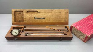 Starrett No 696-B Crankshaft Distortion Dial Gauge, in good condition, IOB
