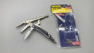 "Irwin 6"" Vice Grips With Knife And Screwdriver"