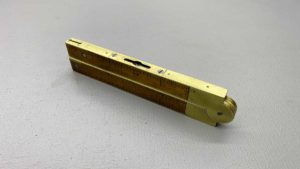 Stephens No 36 Combination Rule And Level In Brass and Timber Vial Is Good