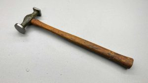 """Panel Beater's Bumping Hammer Maker Worn 1"""" Square - 1 1/4"""" Round"""