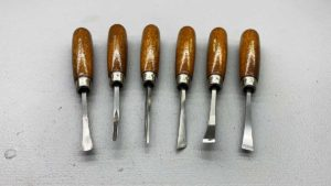 Harmen USA Set Of 6 Small Carving Chisels