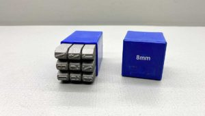 German Made 8mm Number Punch Set As New Condition